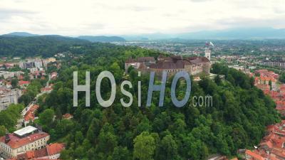 Ljubljana Castle, Slovenia - Video Drone Footage