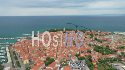 Piran, Slovenia - Video Drone Footage