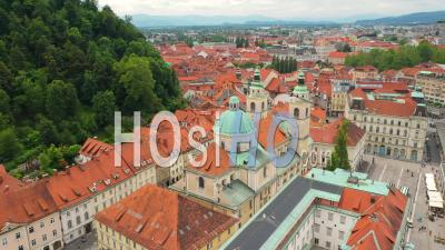 Ljubljana The Capital And Largest City Of Slovenia - Video Drone Footage