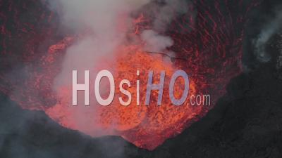 The Lava Lake Of The Nyamulagira Volcano In Drc