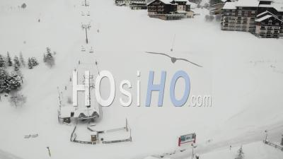 Deserted Ski Resort Because Of Covid 19 - Video Drone Footage