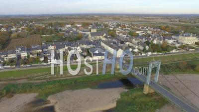 Les Rosiers And The Ile De Gennes - Video Drone Footage