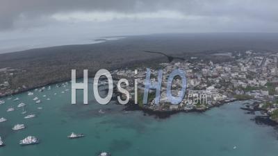Puerto Ayora In Santa Cruz Island 2 - Video Drone Footage