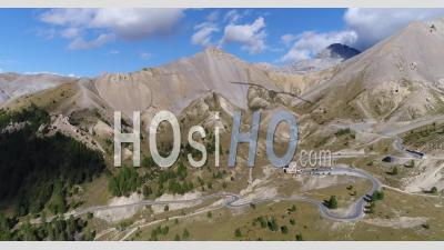The Col D'izoard, Between Brianconnais And Queyras, Hautes-Alpes, France, Viewed From Drone