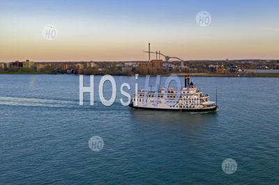 Detroit Princess Riverboat - Aerial Photography