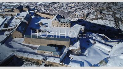 The Fort Des Têtes In Briancon, Unesco World Heritage, Hautes-Alpes, France, Viewed From Drone
