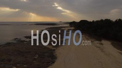 Entry Of Gulf Of Morbihan - Video Drone Footage