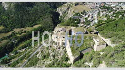 Fort Des Salettes, Unesco World Heritage, Above Briançon, Hautes-Alpes, France, Viewed From Drone