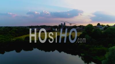 Ely Cathedral At Sunset Filmed By Drone