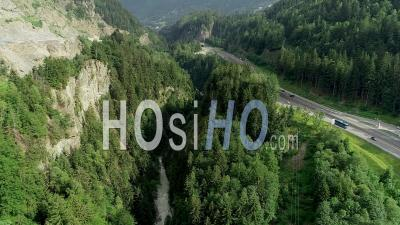 Chamonix Road N205 - Video Drone Footage
