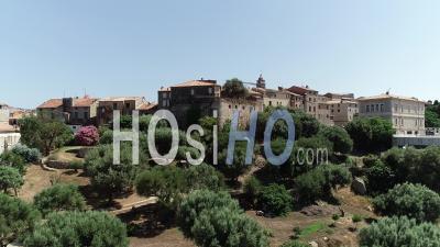 Old City Of Porto-Vecchio - Video Drone Footage