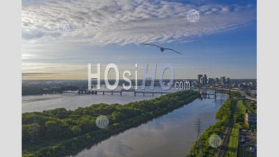Ohio River At Louisville, Kentucky - Aerial Photography