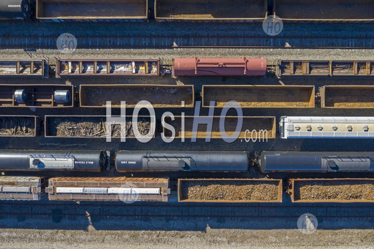 Detroit Rail Yard - Aerial Photography