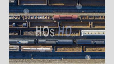 Detroit Rail Yard - Photographie Aérienne