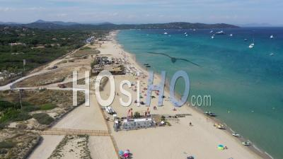 Aerial View Of Pampelonne Beach, Ramatuelle - Video Drone Footage