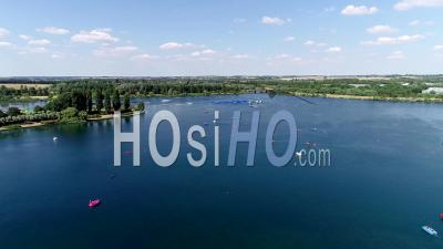 Willen Lake And Water Ski Centre, Milton Keynes Filmed By Drone