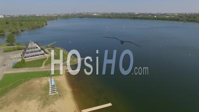 Parc De Loisir Du Lac De Maine Vidéo Drone, Angers