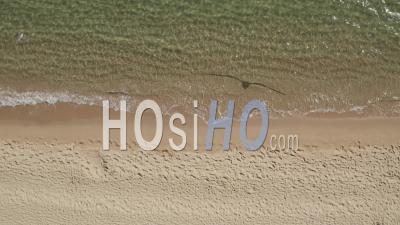 Vue Aérienne De La Belle Plage Tropicale Générique, Vue à Vol D'oiseau Des Vagues De L'océan S'écrasant Contre Une Plage Vide D'en Haut 4k - Drone Vidéo
