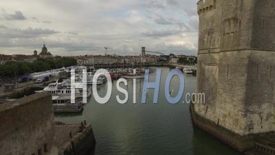 Tower Of The Chain And The Tower Saint-Nicolas - Video Drone Footage