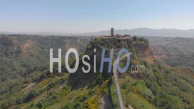 Civita Di Bagnoregio A Hilltop Village In Central Italy - Video Drone Footage