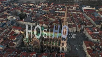Basilica Saint-Epvre - Old Town Nancy - Video Drone Footage