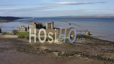 Aerial 4k Footage Of Blackness Castle In Scotland, Uk - Video Drone Footage