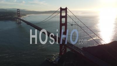 San Francisco - Golden Gate Bridge - Bay Golden Hour Series - Vidéo Aérienne Par Drone