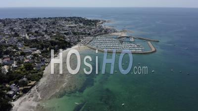 Port De Piriac Sur Mer Loire Atlantique France - Video Drone Footage
