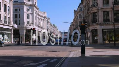 April 2020 First Lockdown Of Covid 19 Pandemic. Regent Street London