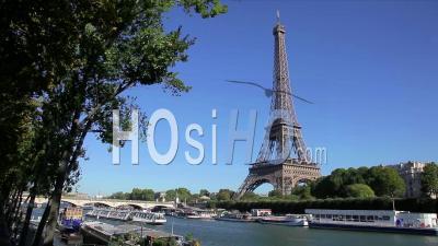Eiffel Tower And River Seine Paris