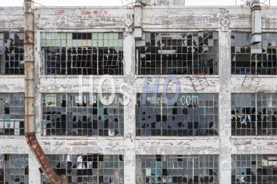 Abandoned Fisher Body 21 Auto Factory - Aerial Photography