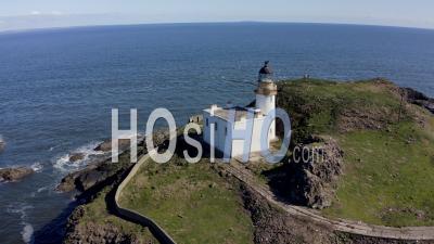 Fidra Island In Firth Of Forth, Scotland, Uk - Video Drone Footage