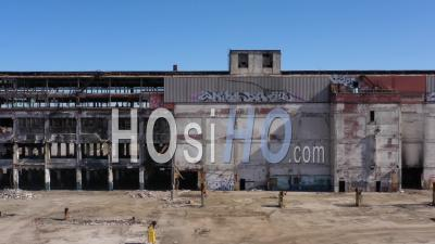 Demolition Of Cadillac Stamping Plant - Video Drone Footage