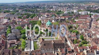 Saint Anne Church In Dijon - Video Drone Footage