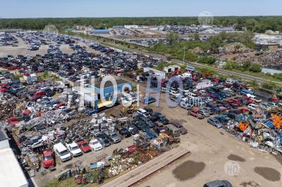 Car Junkyard - Aerial Photography