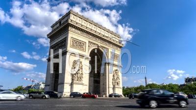 Timelapse De L'arc De Triomphe, Paris,
