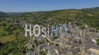 The Village Of Saint-Come-D'olt - Video Drone Footage