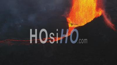 Eruption Of Geldingadalur In Iceland - Video Drone Footage