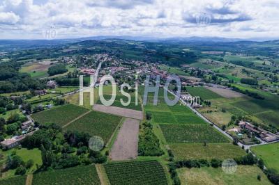 Vignobles En Beaujolais - Photographie Aérienne