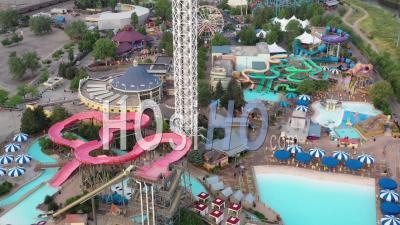 Elitch Gardens Amusement Park - Video Drone Footage