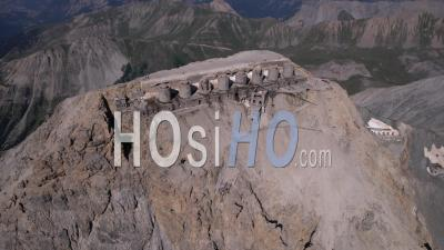 Fort Du Chaberton (3131 Meters Above Sea Level), The Highest Fort In Europe, Hautes-Alpes, France, Viewed From Drone