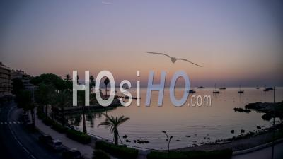 Timelapse Of Sunrise Over The Bay Of Antibes, French Riviera