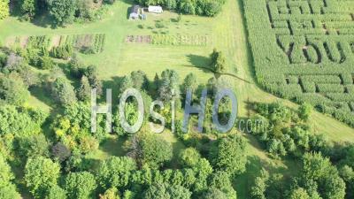 Suicide Prevention Corn Maze - Video Drone Footage