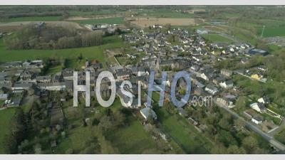 The Village Of Guipel In Brittany, France - Video Drone Footage