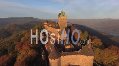 Haut-Koenigsbourg, Alsace - Video Drone Footage