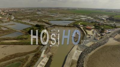 The Port Of Lead Of The L'houmo - Video Drone Footage