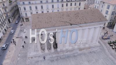 Maison Carrée De Nimes, Vue Par Drone