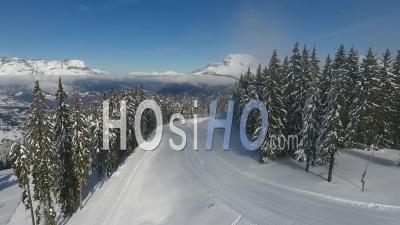 Saint Gervais Les Bains Ski Resort - Video Drone Footage