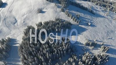 Saint Gervais Les Bains Ski Resort, Seen By Drone