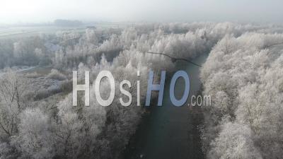 L'arve Sous Le Givre, Vidéo Drone